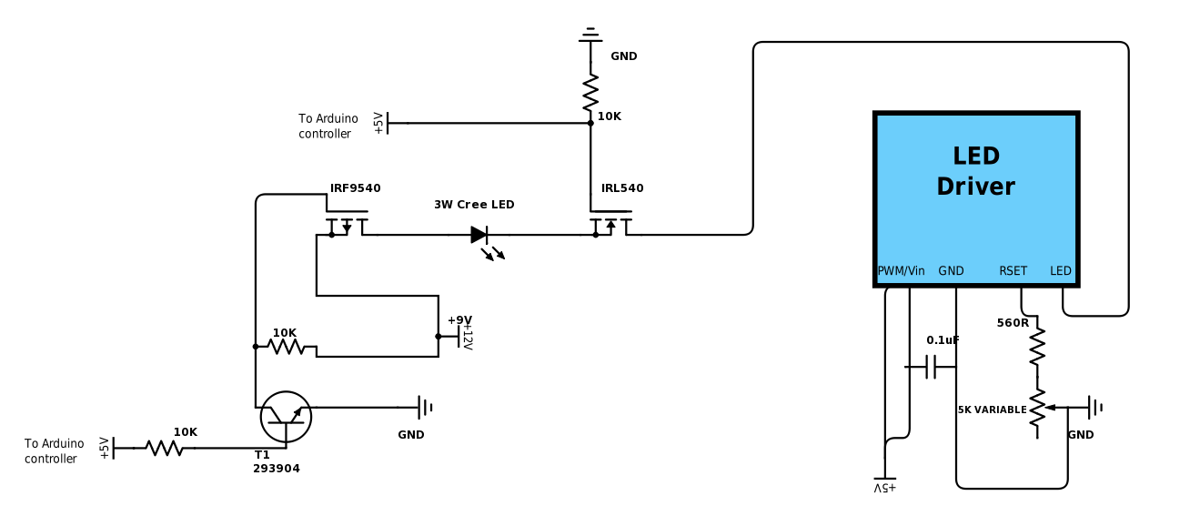 How to use a MOSFET as a switch controlled by arduino